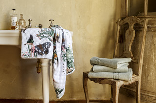 Avantgardening velour bath towel  by  Christian Fischbacher