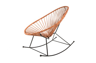 Acapulco Chair Rocking Leather Cognac  by  ACAPULCO DESIGN