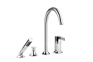 VAIA Four-hole single-lever bath mixer  by  Dornbracht