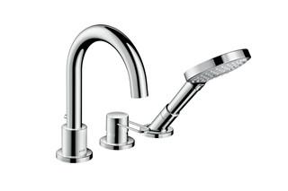 Axor Uno 3-hole rim mounted bath mixer loop handle  by  AXOR