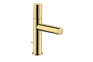 Axor Uno Single lever basin mixer 110, zero handle, with pop-up waste set, polished brass  by  AXOR