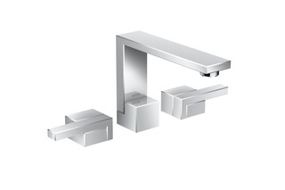 Axor Edge 3-hole basin mixer with push-open waste set  by  AXOR