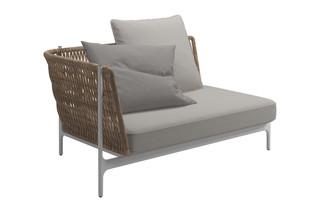 Grand Weave Linkes Eck Modul  von  Gloster Furniture