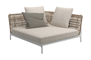 Grand Weave Large Corner Unit  by  Gloster Furniture