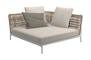 Grand Weave Großes Eck Modul  von  Gloster Furniture