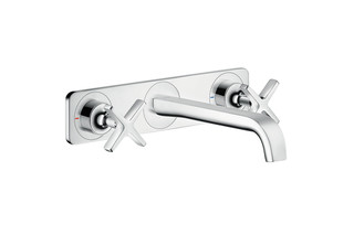 Axor Citterio E 3-hole basin mixer for concealed installation with plate wall-mounted  by  AXOR