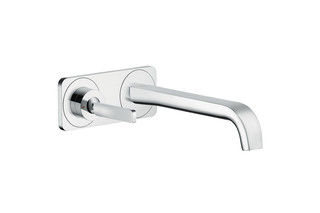 Axor Citterio E single lever basin mixer for concealed installation with plate wall-mounted  by  AXOR