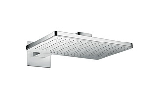 Axor overhead shower 460 / 300 2jet with shower arm and square escutcheons  by  AXOR