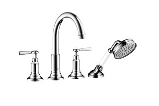 Axor Montreux 4-hole tile mounted bath mixer with lever handles  by  AXOR