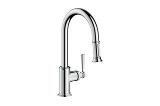 Axor Montreux Single lever kitchen mixer with pull-out spray  by  AXOR