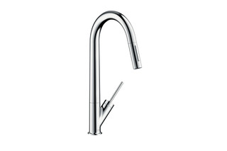 Axor Starck Single Lever Kitchen Mixer with pull-out spray DN15  by  AXOR