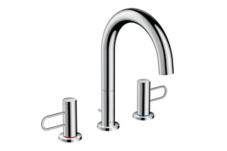 Axor Uno 3-Hole Basin Mixer 200, with pull-rod  by  AXOR