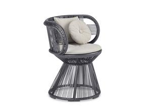CIRQL armchair, central base  by  DEDON