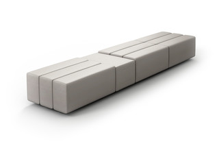 CL classic bench with tray table  by  modul21