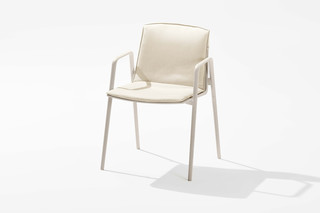 Zebra chair with armrests  by  Fast
