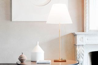 Costanza Brass table lamp  by  Luceplan