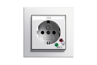 E2 socket outlet with overvoltage protection  by  Gira
