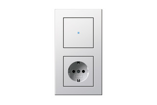 E22 touch control switch/socket outlet  by  Gira