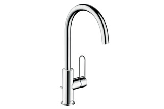 Axor Uno Single lever basin mixer 240, loop handle, with pop-up waste set  by  AXOR