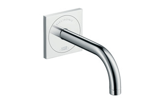 Axor Uno Electronic basin mixer 225, for concealed installation with spout, wall-mounted  by  AXOR