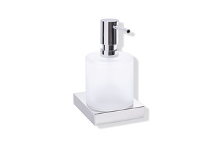 Soap dispenser with holder finish - chrome  by  HEWI