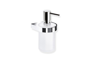Soap dispenser with holder  by  HEWI