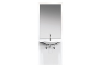 Washbasin module White, washbasin 950.11.101  by  HEWI