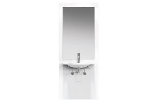 Waschtisch-Modul Weiß, Waschtisch 950.11.101  von  HEWI