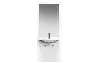 Washbasin module White, washbasin 950.11.121, LED  by  HEWI