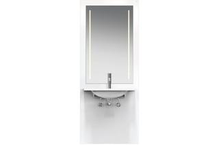 Washbasin module White, washbasin M40.11.501, LED  by  HEWI