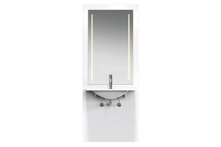 Washbasin module White, washbasin M40.11.101, LED  by  HEWI