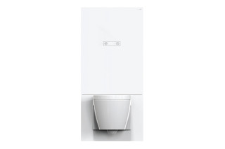 WC module white, manual flushing panel  by  HEWI