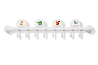 Rail with hooks, for children  by  HEWI