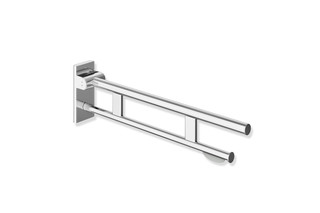 Hinged support rail Duo 750 mm projection  chrome  by  HEWI