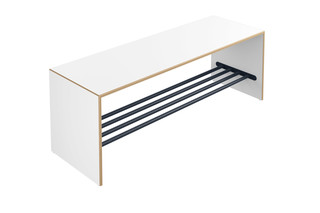 Bench with shoe rack  by  HEWI