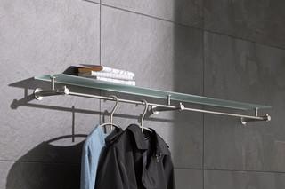 Wall wardrobe with glass shelf G4-1200G  by  PHOS
