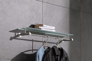 Wall wardrobe with glass shelf G4-600G  by  PHOS