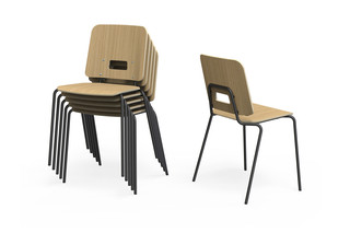 Grip NxT chair with four leg base  by  Martela