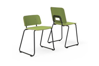 Grip NxT chair with sled base  by  Martela