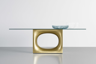 Holo table glass  by  Kristalia