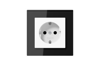 A Creation Glass SCHUKO-Socket in black  by  JUNG