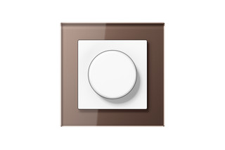 A Creation Glass Rotary Dimmer in mocha  by  JUNG