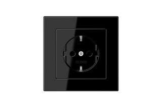 A Creation SCHUKO-Socket in black  by  JUNG