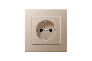 A Creation SCHUKO-Socket in champagne  by  JUNG
