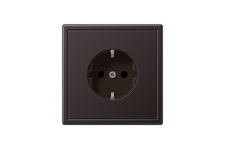 LS 990 SCHUKO-Socket in dark  by  JUNG