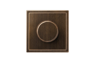 LS 990 Rotary Dimmer in antique brass  by  JUNG