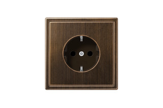 LS 990 SCHUKO-Socket in antique brass  by  JUNG