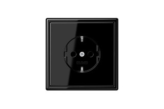 LS 990 SCHUKO-Socket in black  by  JUNG