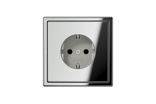 LS 990 SCHUKO-Socket in chrome  by  JUNG