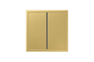 LS 990 F40 Push-button sensor 2-gang in classic brass  by  JUNG